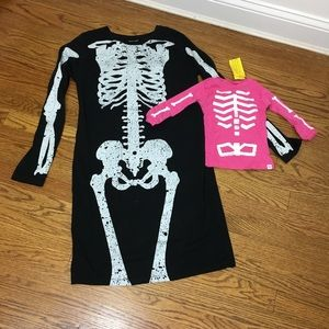 Mommy and Me skeleton outfit Halloween W10 I 6-12m